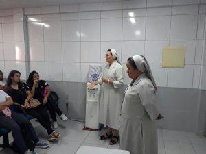 Em visita a CMT a Irmã Ilza Se encanta com o trabalho desenvolvido pela casa.