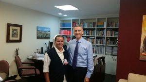 Irmã Marcia em visita ao Dr. Xisto Tiago, Procurador do MPT/RN